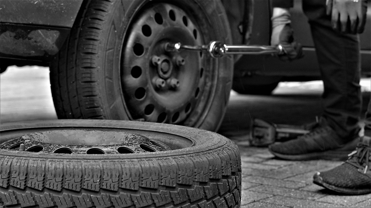 tyres been changed due to pothole