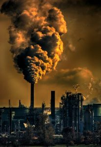emissions from factories increase carbon footprint