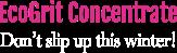 Ecogrit concrete Logo